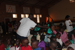Donating Educational Material to over 100 children