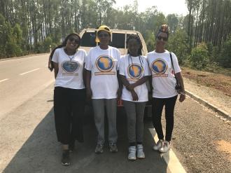 Visit at the border of Burundi and Tanzania