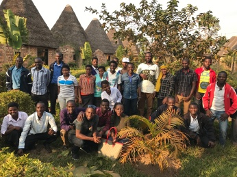 We had a conference meeting with students from University of Ngozi at Inarunyonga Museum HOTEL