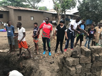 community work in order to make bricks for less fortunate families