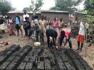 community work in order to make bricks for less fortunate families - Bujumbura