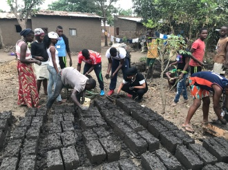 community work in order to make bricks for less fortunate families - Kamenge